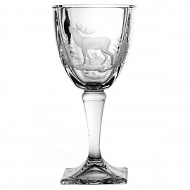 Set of crystal wine glasses with engraving - 6564