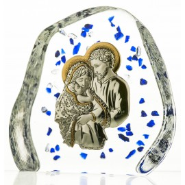 Crystal Paperweight with Holy Family 2763