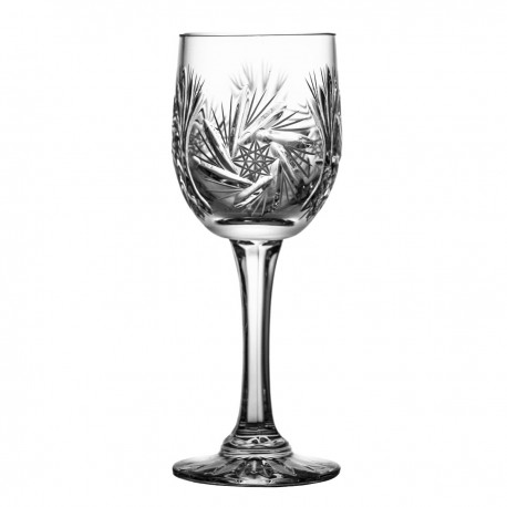 Set of crystal wine glasses, 6 pcs- 0204 -