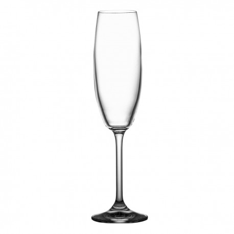 Set of crystal champagne glasses 220 ml, 6 pcs - 4959