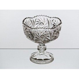 Crystal footed fruitbowl 16 cm - 0286