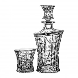 Crystal Whisky Decanter and Glasses Set 3807