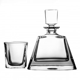 Crystal Whisky Decanter and Glasses Set 2093