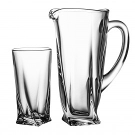 Set of jug and 6 long drink glasses - 4074