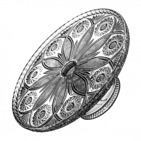Crystal footed cake plate 29,5 cm - 1517 -