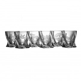 Engraved Whisky Glasses, Set of 6 3819