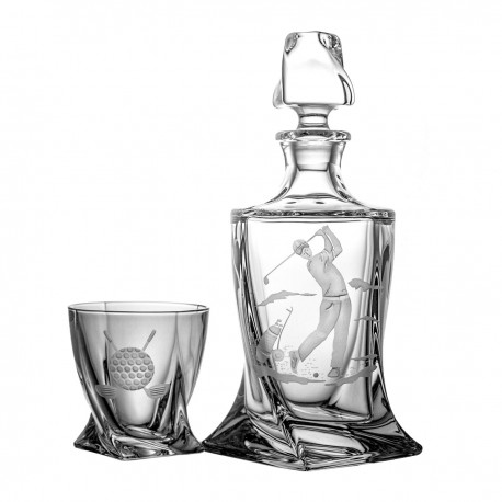 Engraver set of decanter and 6 whisky glasses - 2550