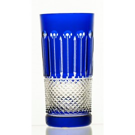 Set of painted crystal long drink glasses 6 pcs - 9550