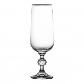 Crystal Champagne Glasses, Set of 6 4431
