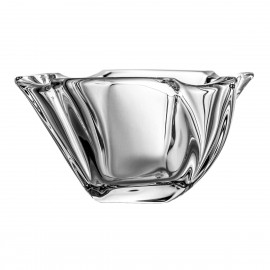 Schale 4741 Crystalite, moderne Form, wellig, transparent, D 11cm