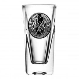 Crystal Vodka Glass with Zodiac Sign Gemini 15063