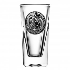 Crystal Vodka Glass with Zodiac Sign Pisces 15072
