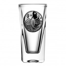 Crystal Vodka Glass with Zodiac Sign Scorpio 15068