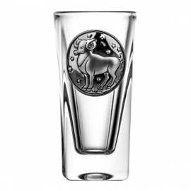 Crystal Vodka Glass with Zodiac Sign Aries 5061