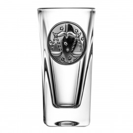 Crystal Vodka Glass with Zodiac Sign Libra 15067