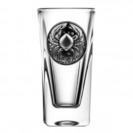 Crystal Vodka Glass with Zodiac Sign Cancer 15064