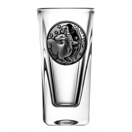 Crystal Vodka Glass with Zodiac Sign Sagittarius 15069