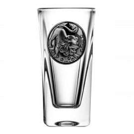 Crystal Vodka Glass with Zodiac Sign Leo 15065