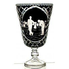 Crystal Painted Vase Trophy with Engraving 08144