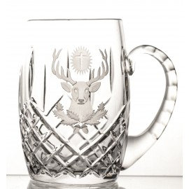 Engraved Crystal Beer Mug 04489
