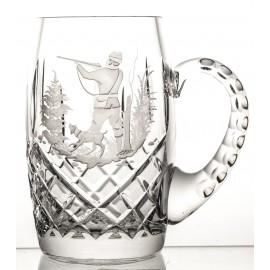 Engraved Crystal Beer Mug 04482