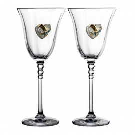 Wedding Crystal Red Wine Glasses, Set of 2 2080