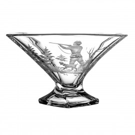 Engraved Fruitbowl with Hunting Motif 5038