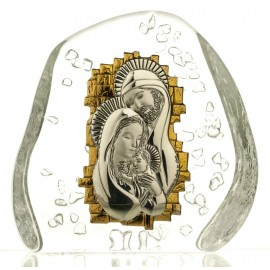 Crystal Paperweight with Holy Family 05513