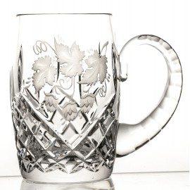 Engraved Crystal Beer Mug 04488