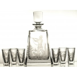 Crystal Vodka Decanter and Glasses Set 11081
