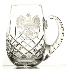 Engraved Crystal Beer Mug 05579