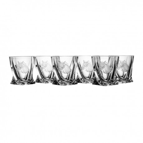 Set of whisky glasses with horse 6 pcs