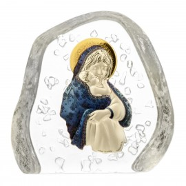 Crystal Paperweight with Mary and Baby Jesus 4104