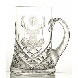 Engraved Crystal Beer Mug 05687