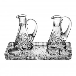 3-Pice Crystal Set Cruets and Tray 6540