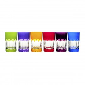 Crystal Painted Tea and Coffee Glasses, Set of 6 18880