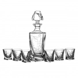 Engraver set of decanter and vodka glasses 6 pcs