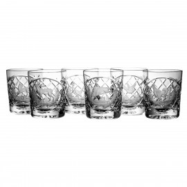 Crystal Engraved Whisky Glasses, Set of 6 4962