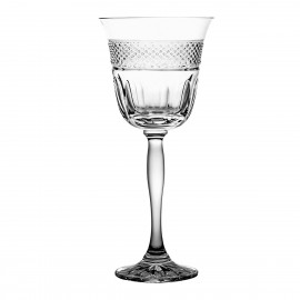 Set of crystal wine glasses 6 psc