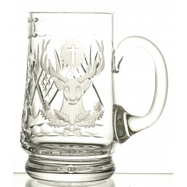 Engraved Crystal Beer Mug 05729