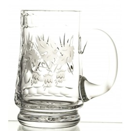 Engraved Crystal Beer Mug 05728