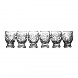 Crystal Engraved Vodka Glasses, Set of 6 06088