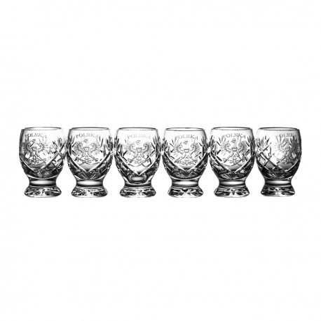 Set of engraver vodka glasses 6 pcs