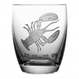 Crystal Whisky Glass with Zodiac Sign Cancer 05612
