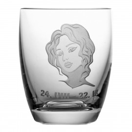 Crystal Whisky Glass with Zodiac Sign Virgo 05614