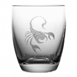 Crystal Whisky Glass with Zodiac Sign Scorpio 05616