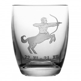 Crystal Whisky Glass with Zodiac Sign Sagttarius 05617