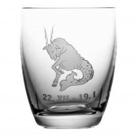 Crystal Whisky Glass with Zodiac Sign Capricorn 05618