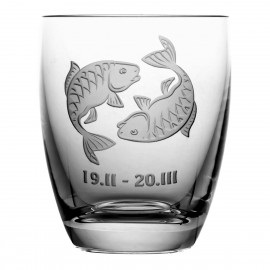 Crystal Whisky Juice Glass Zodiac Pisces 05620