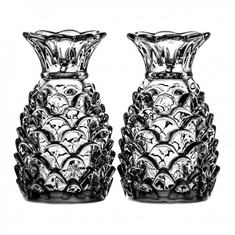 Set of crystal salt and pepper containers